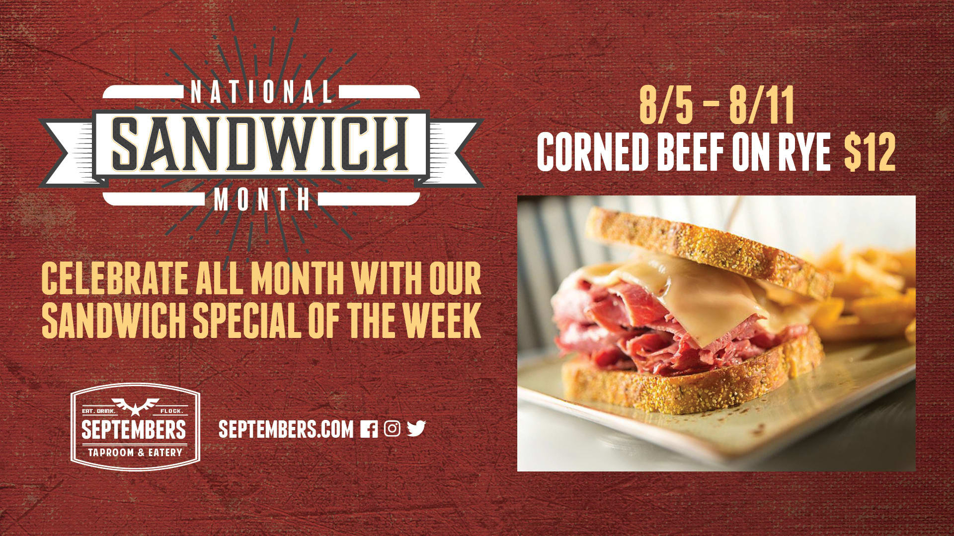 National Sandwich Month - Corned Beef on Rye