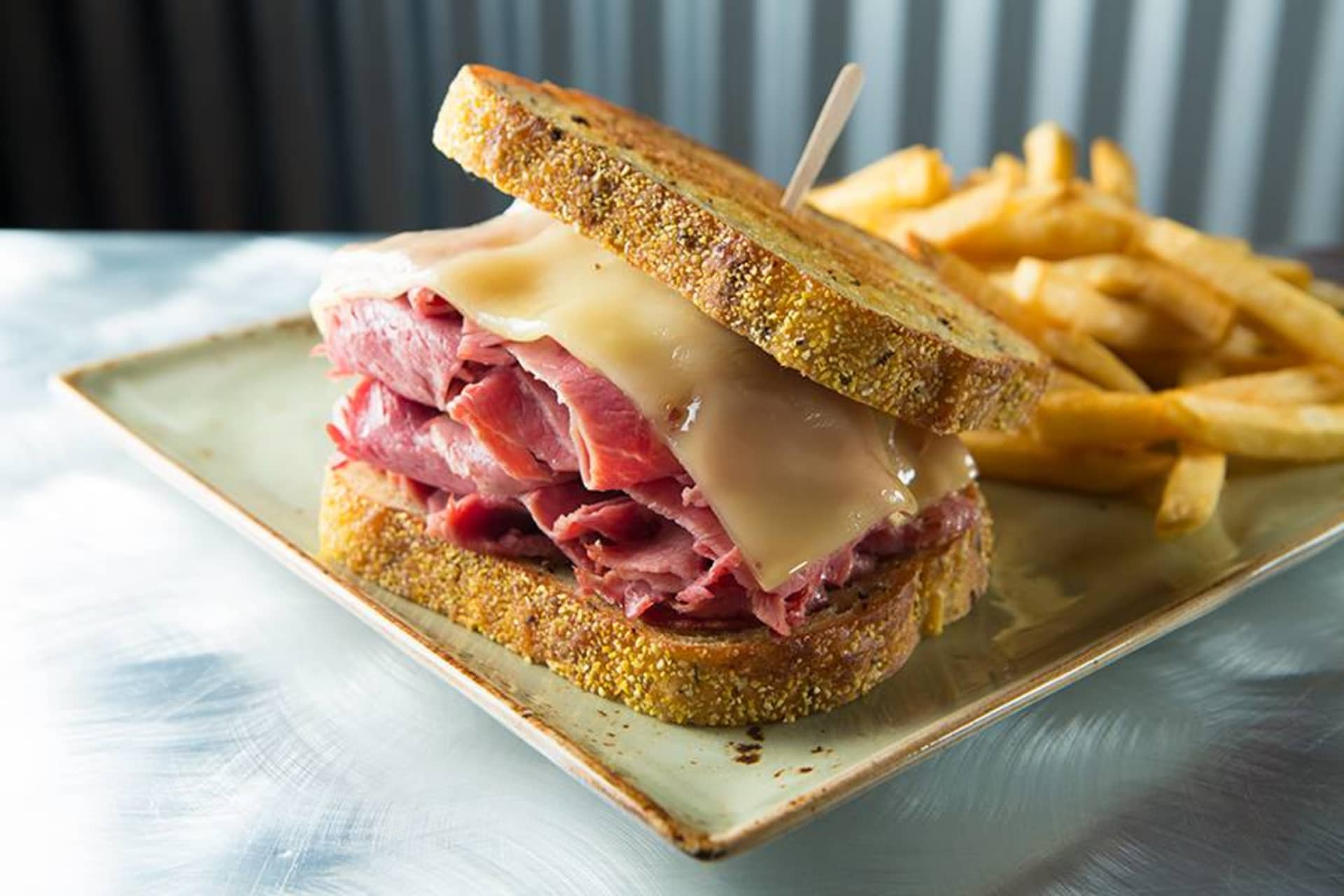 Hot Corned Beef on Rye