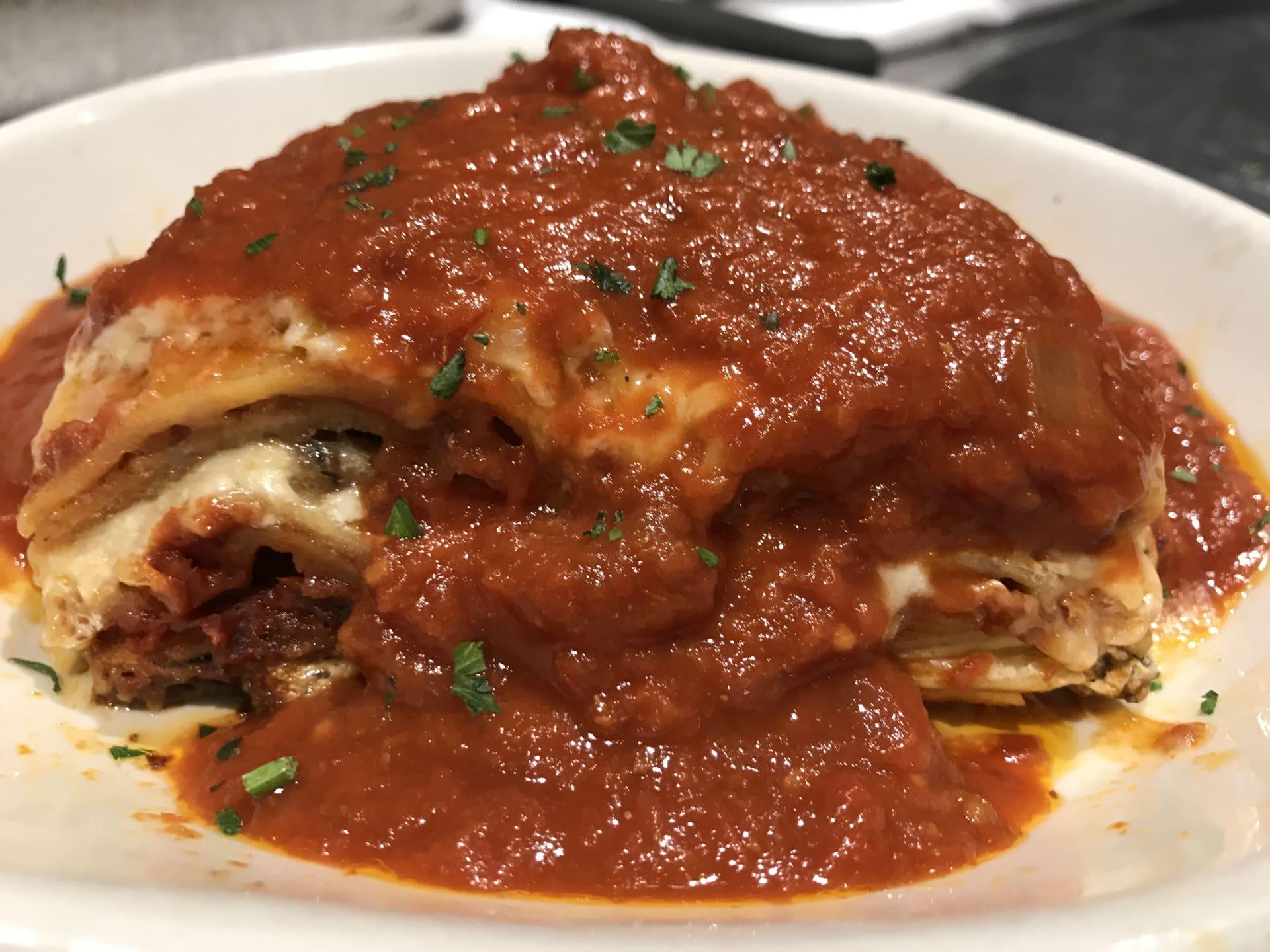 Eggplant Lasagna Monday & Tuesday