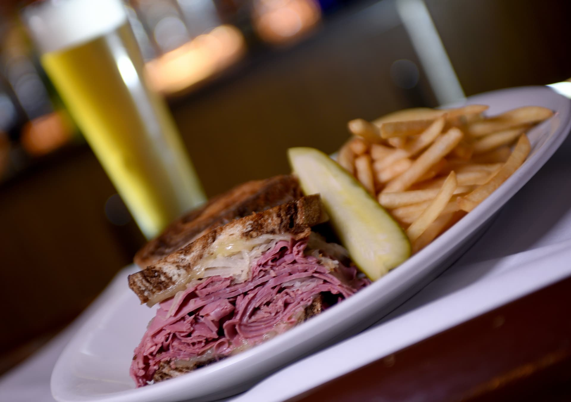 Hot Kosher Corned Beef Reuben