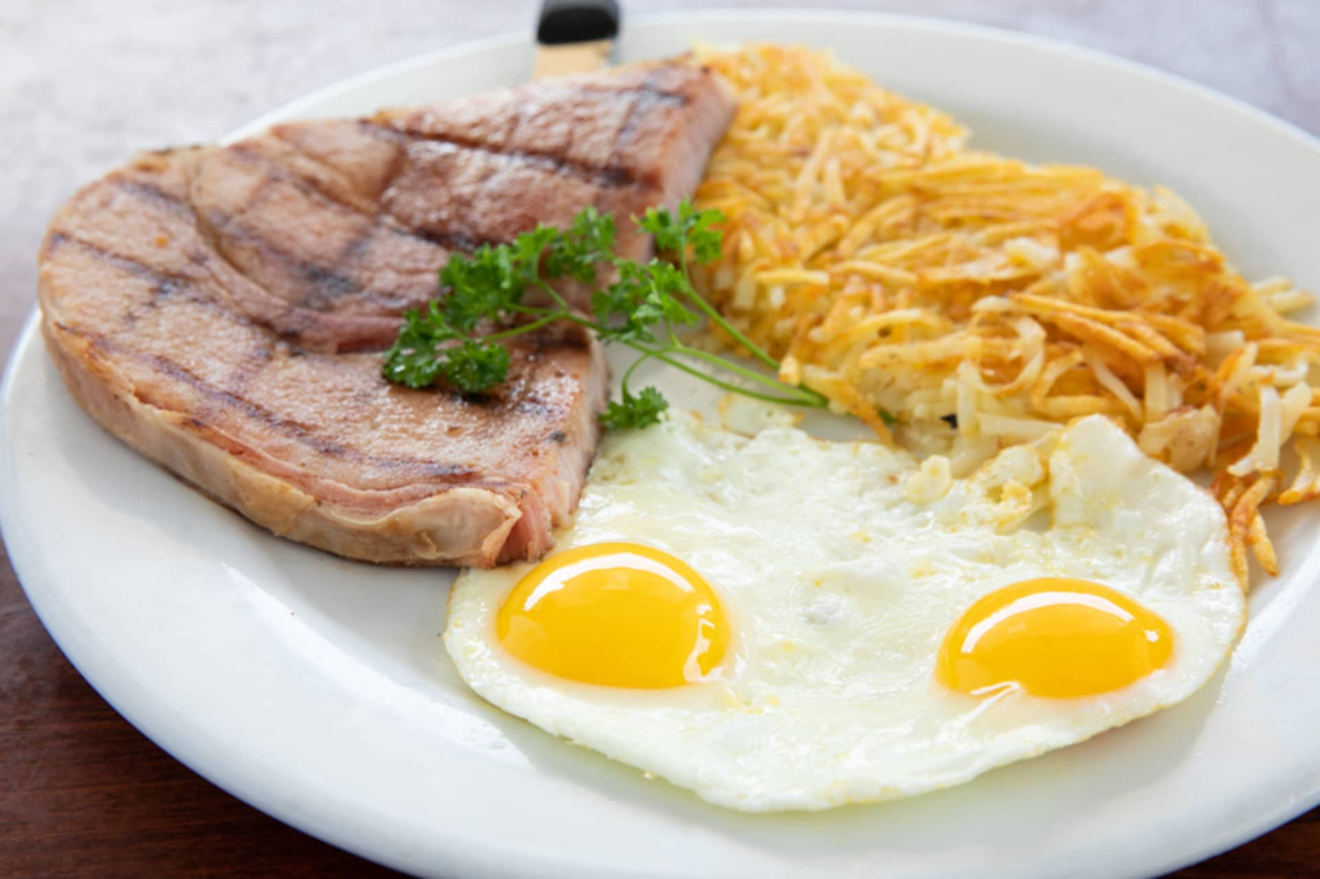 Monday - Ham Steak & Eggs