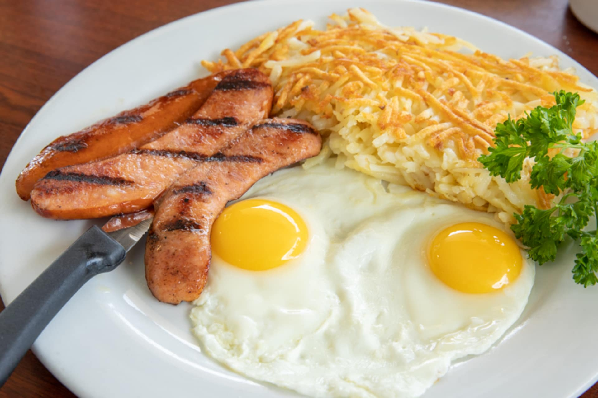 Thursday - Polish Sausage or Hot Links & Eggs
