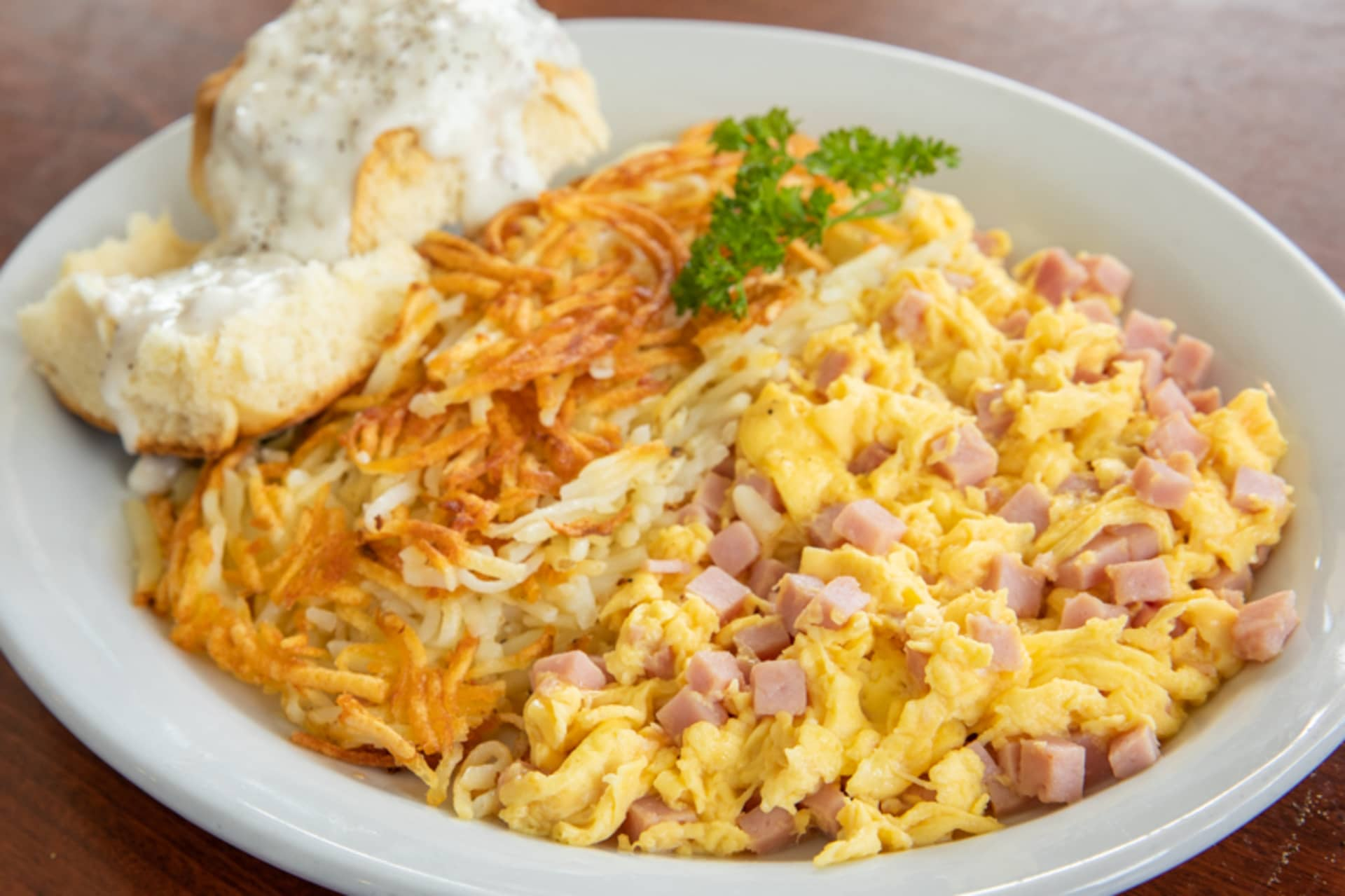 Friday - Diced Ham & Eggs Scramble