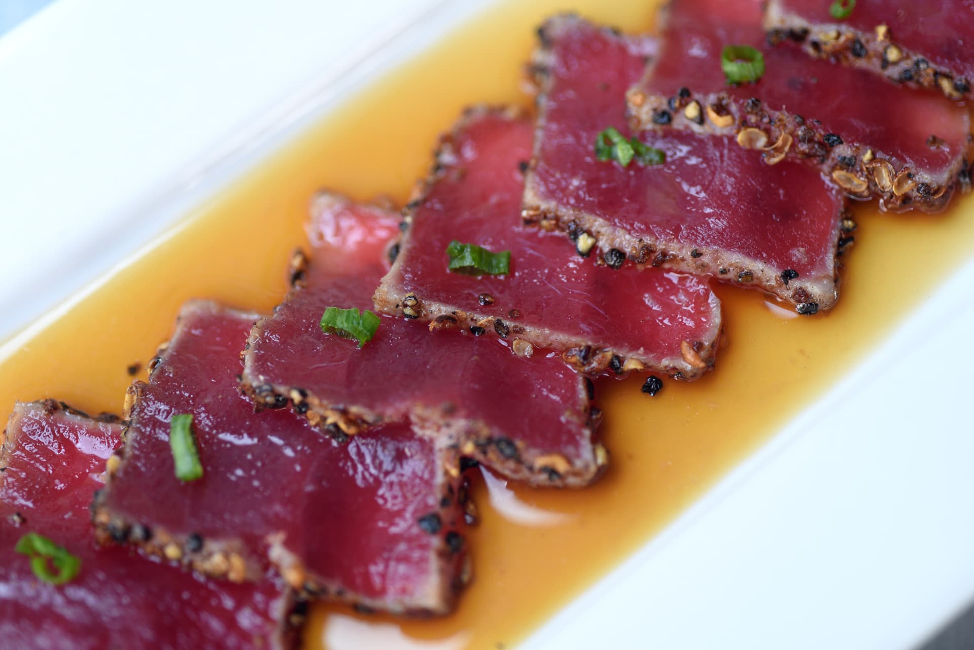 Szechuan Crusted Ahi Tuna with Ponzu