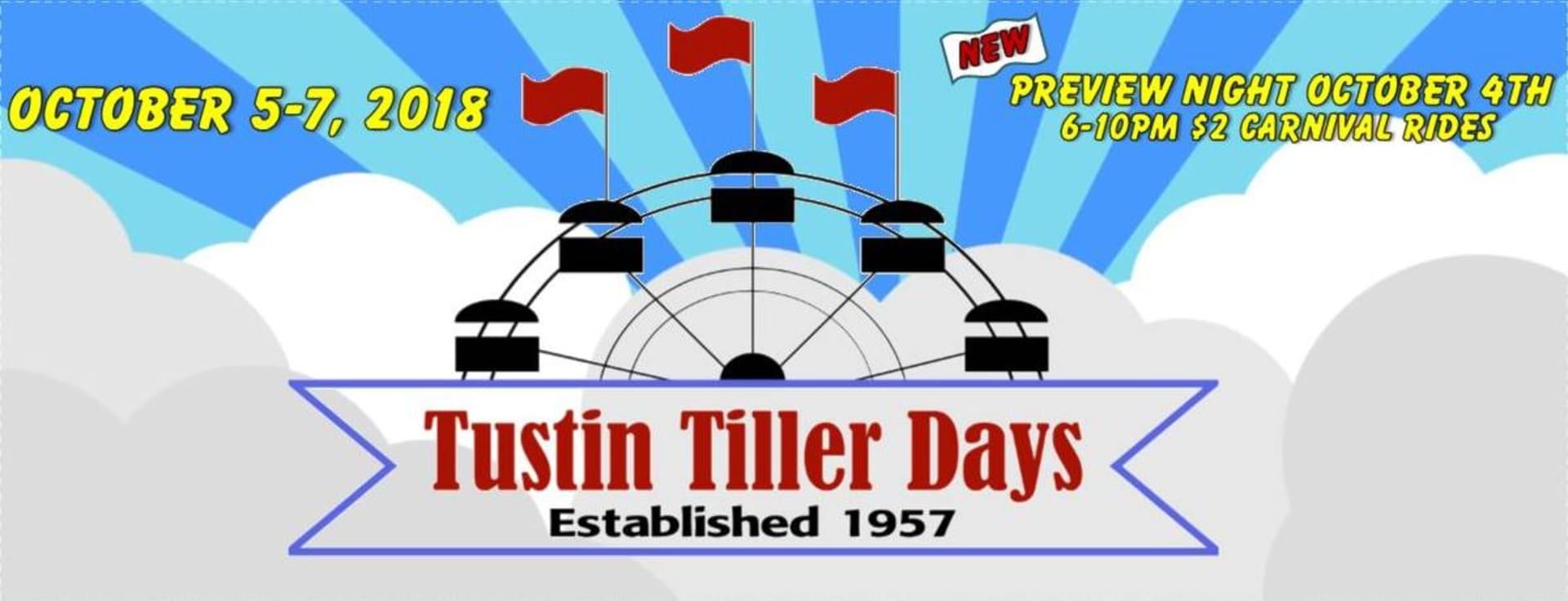 OCT 5-7 | Tustin Tiller Days