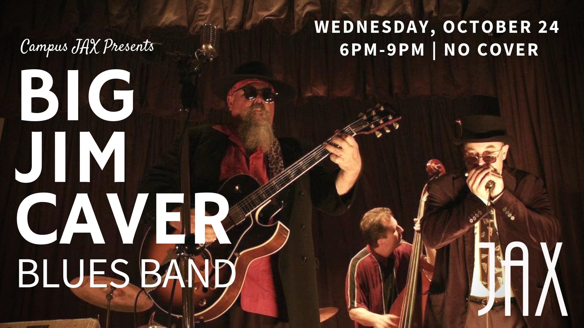 October 24 | WHISKEY WHISKY & WINE DOWN WEDNESDAY with BIG JIM CAVER BAND