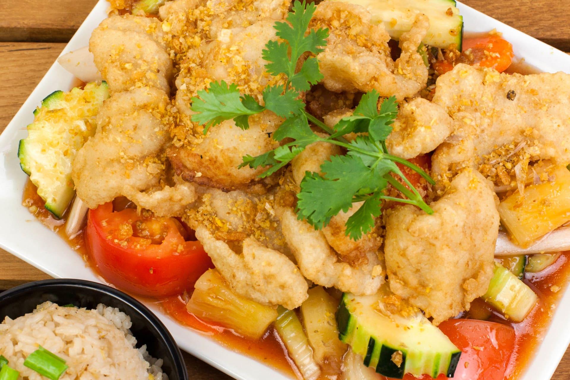 Crispy Garlic Fish Fillet