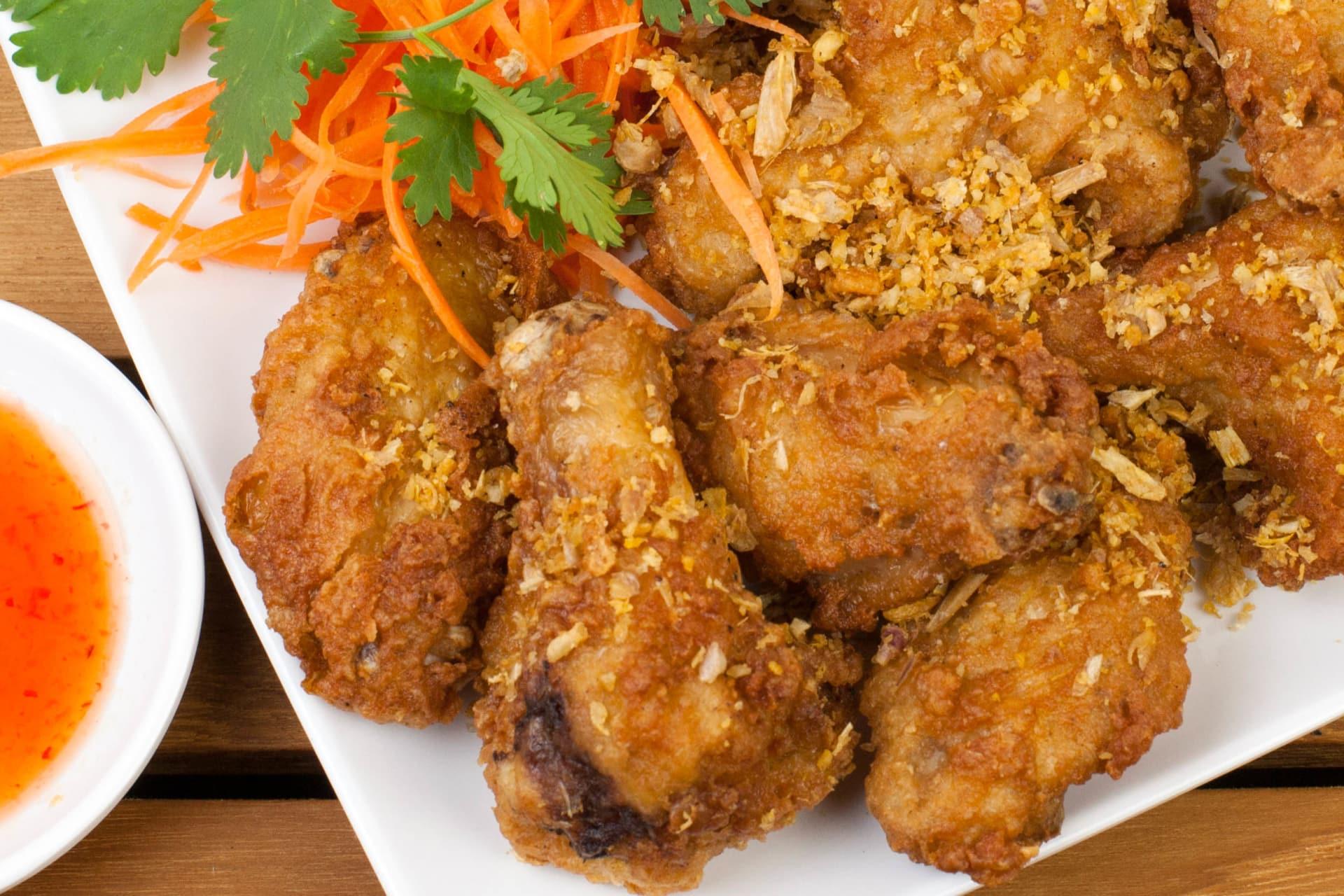 Thai Garlic Chicken Wings