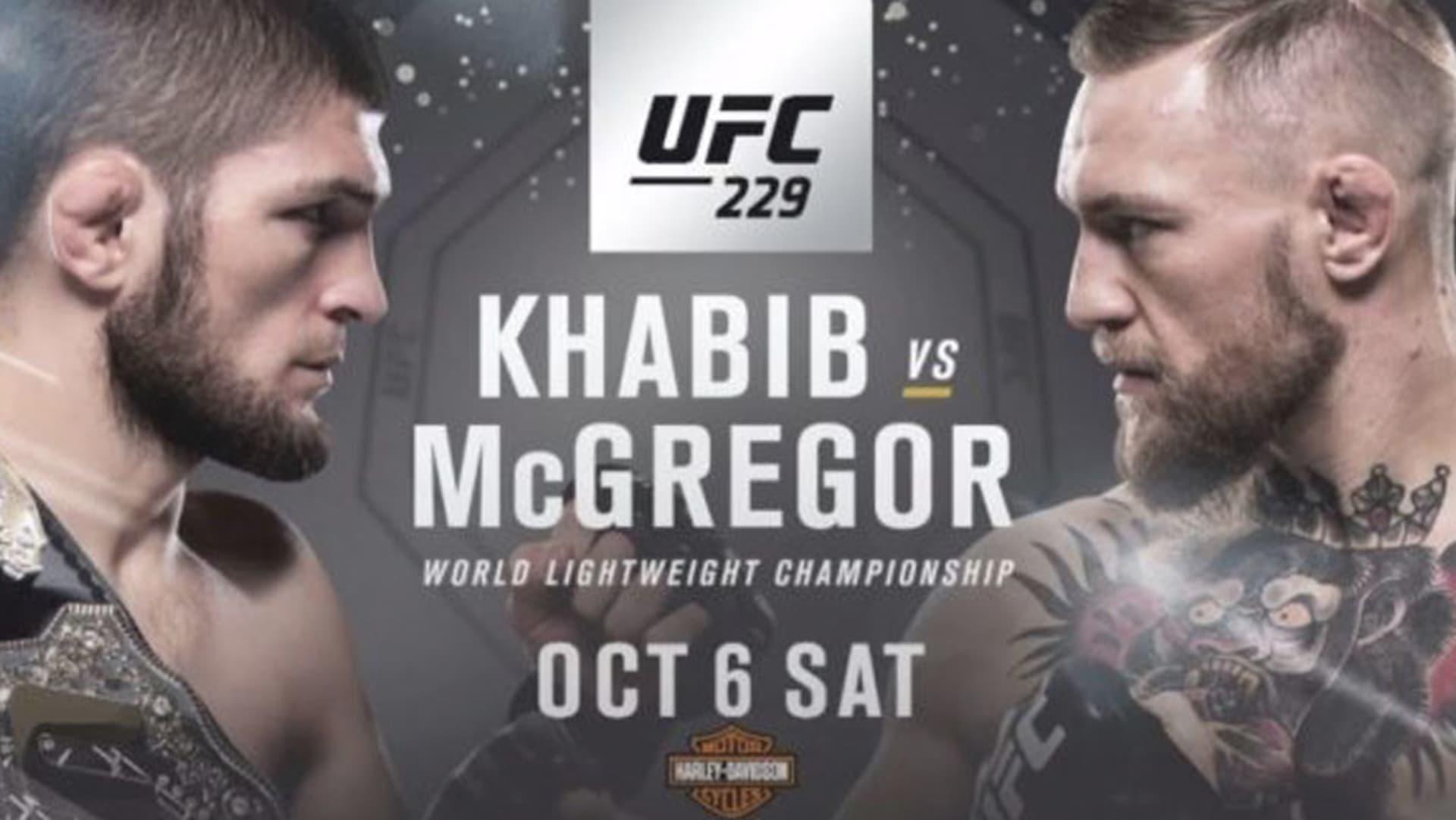 UFC 229 Lightweight Title Fight Conor McGregor vs Khabib Nurmagomedov