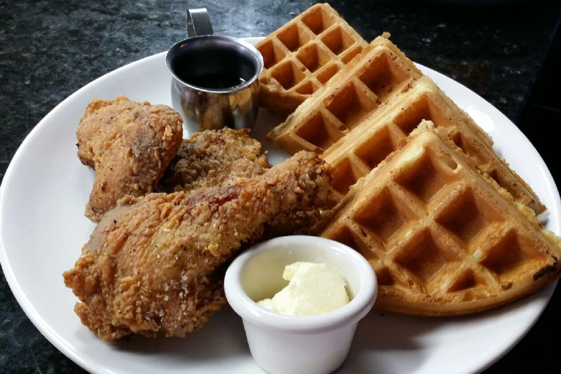 Buttermilk Fried Chicken and Belgian Waffle