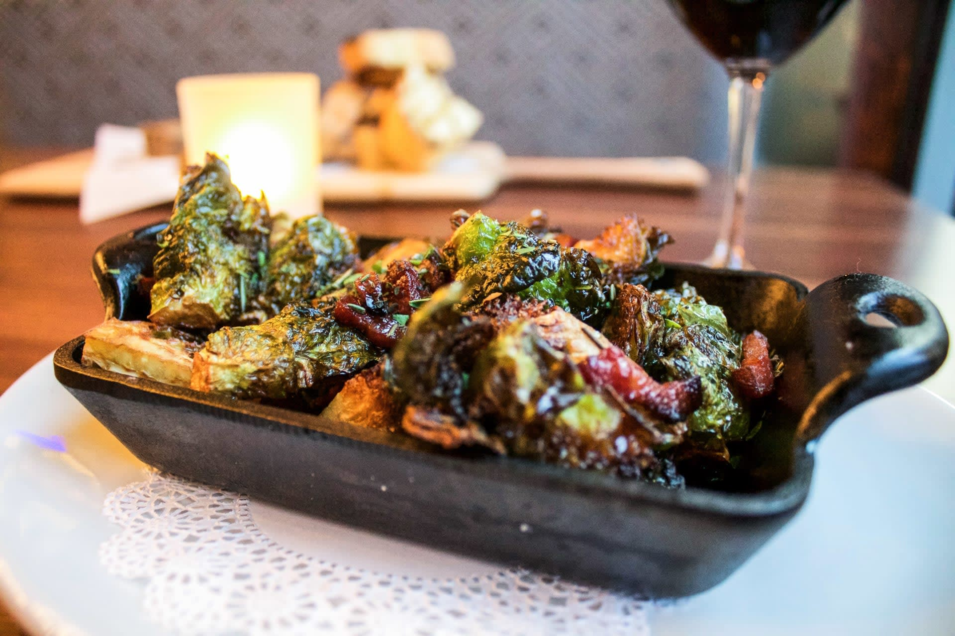 Maple & Bacon Roasted Brussels Sprouts