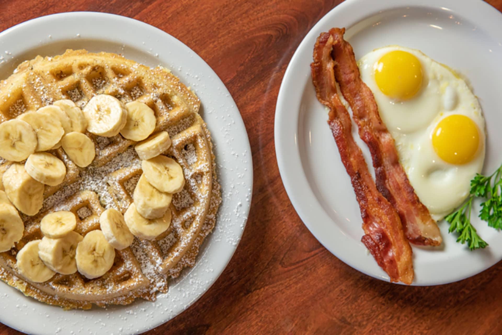 Banana Walnut Waffle Combo