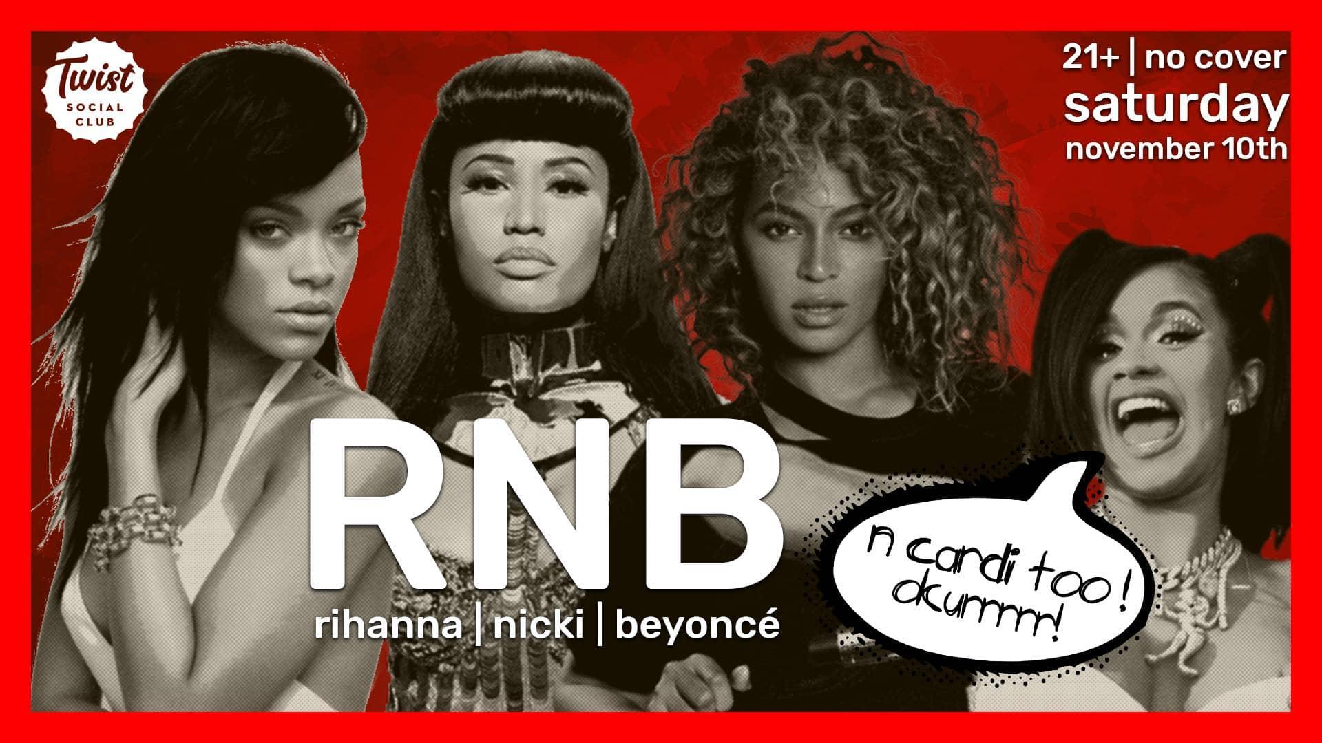 RNB: Rihanna, Nicki, Beyonce (& Cardi too!)