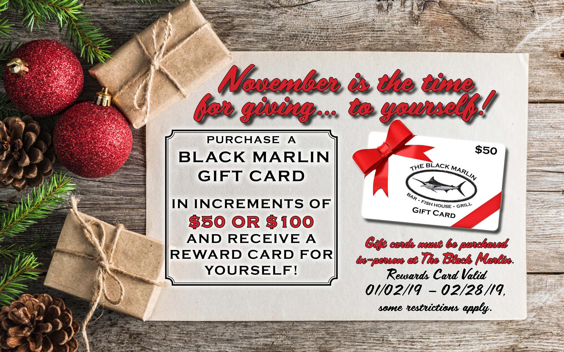 November Gift Card Promo