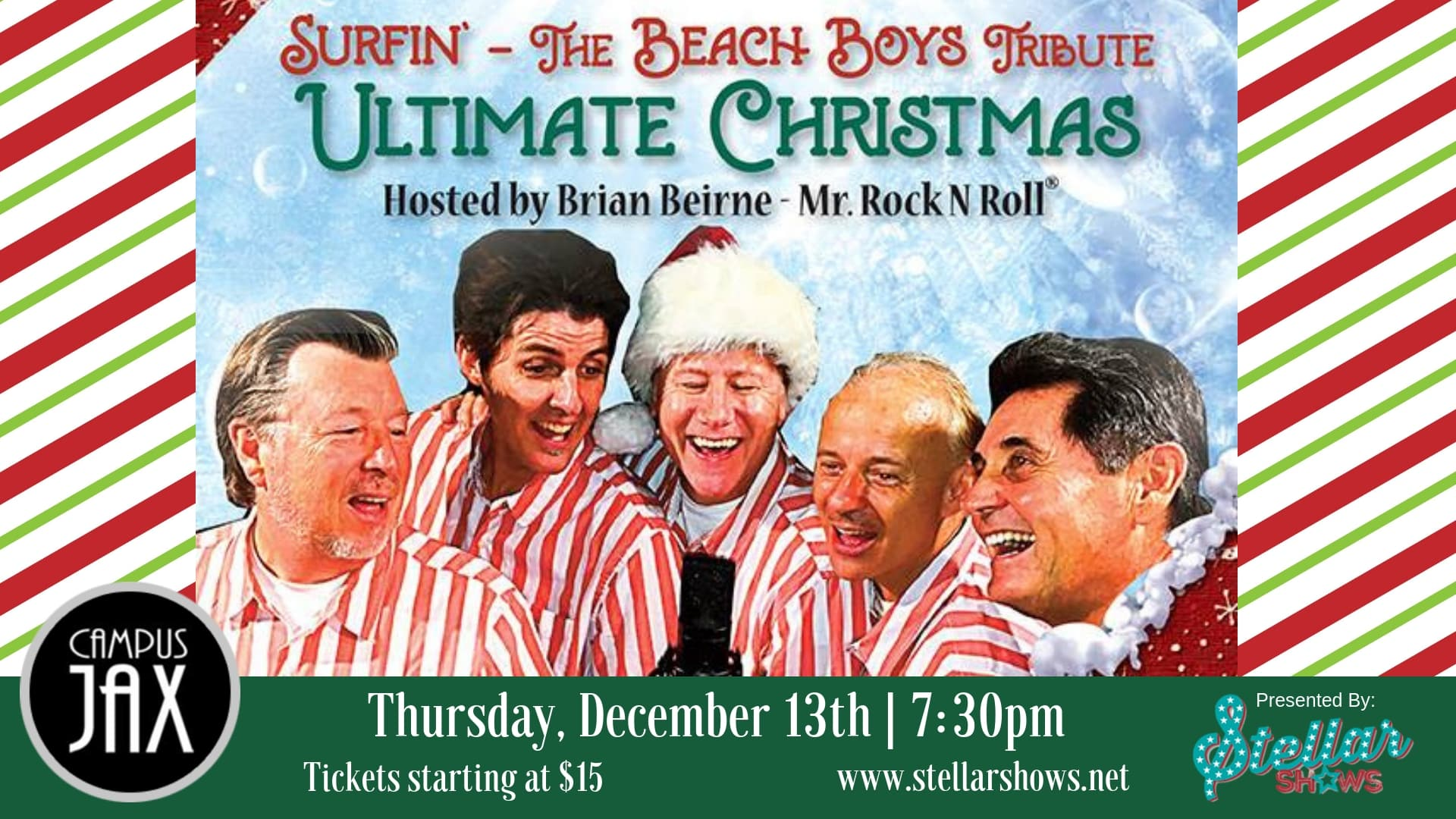 December 13 | SURFIN' - BEACH BOYS ULTIMATE CHRISTMAS! Presented By StellarShows