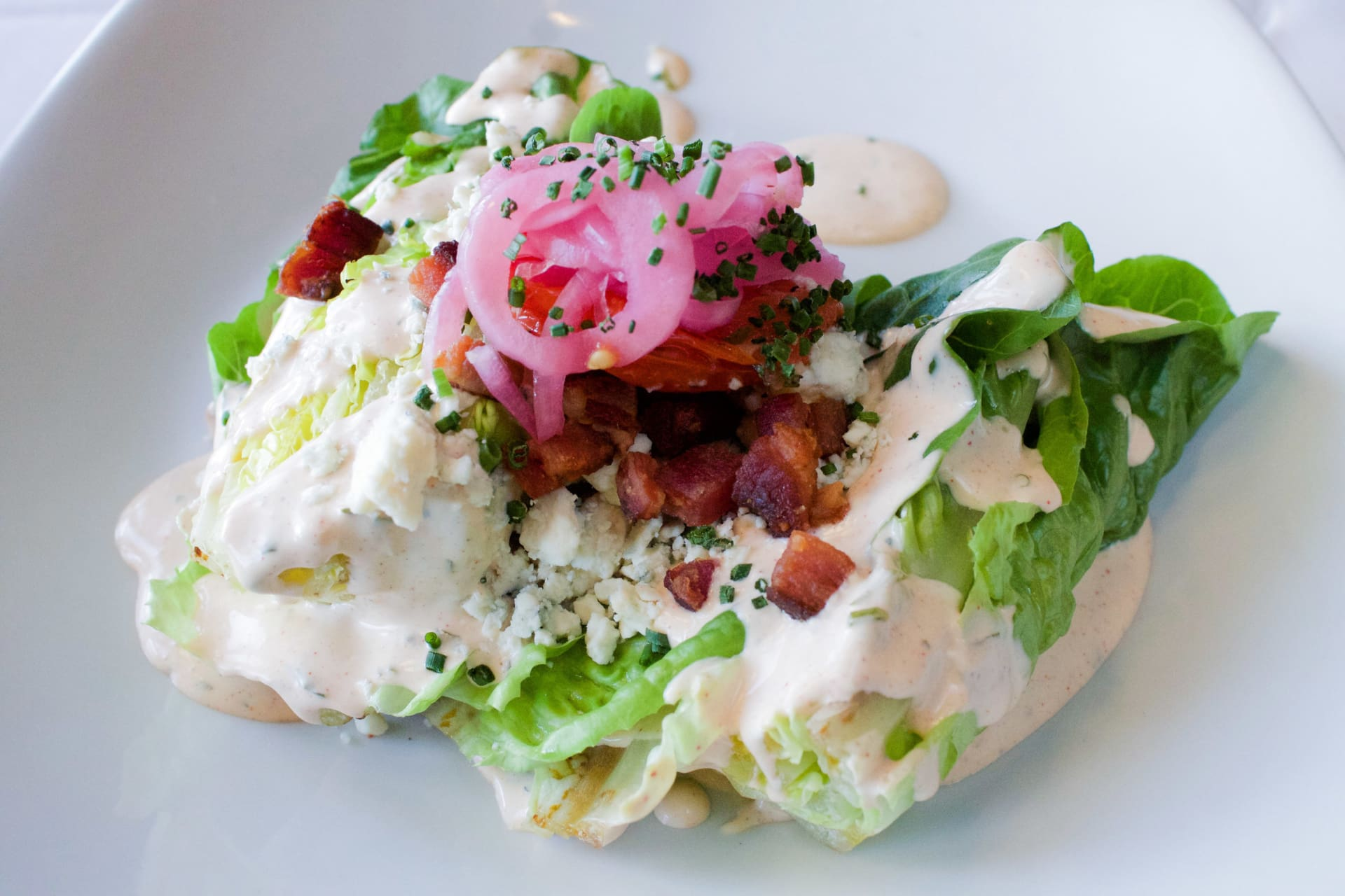 Close up of the Sweet Gem Lettuce Wedge salad