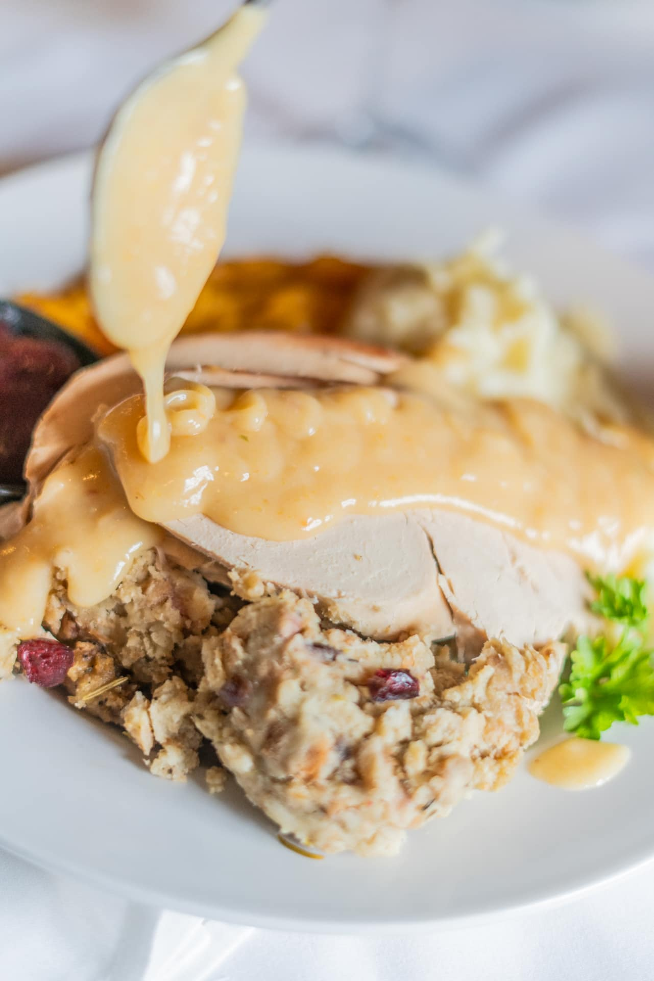 New England Roast Stuffed Turkey Dinner