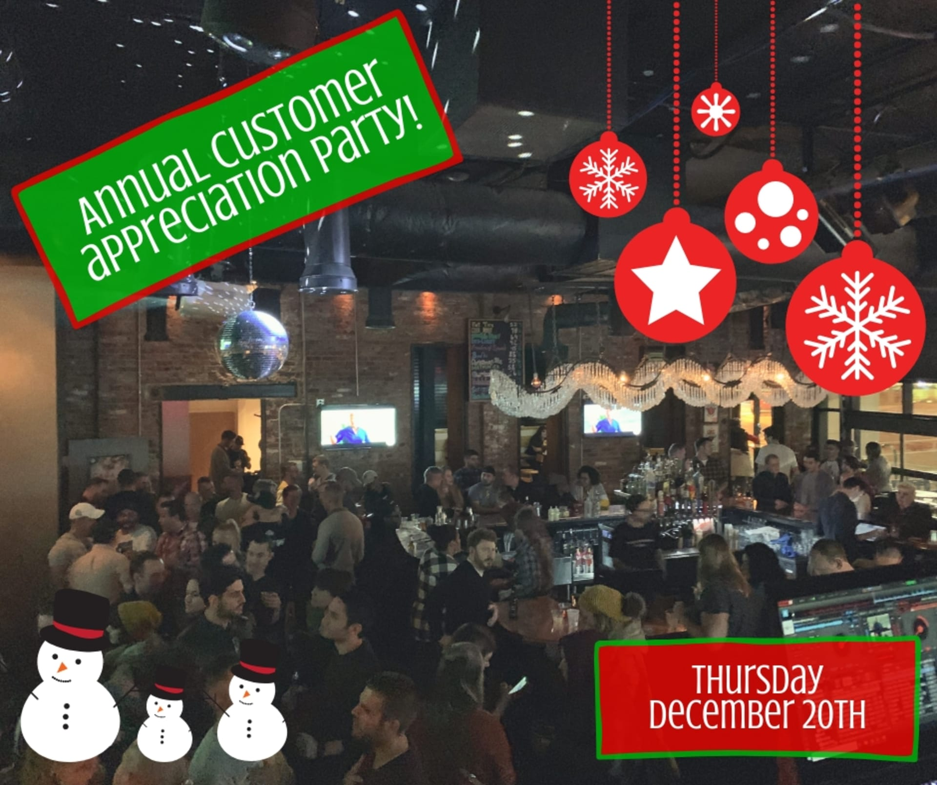 Annual Customer Appreciation Christmas Party