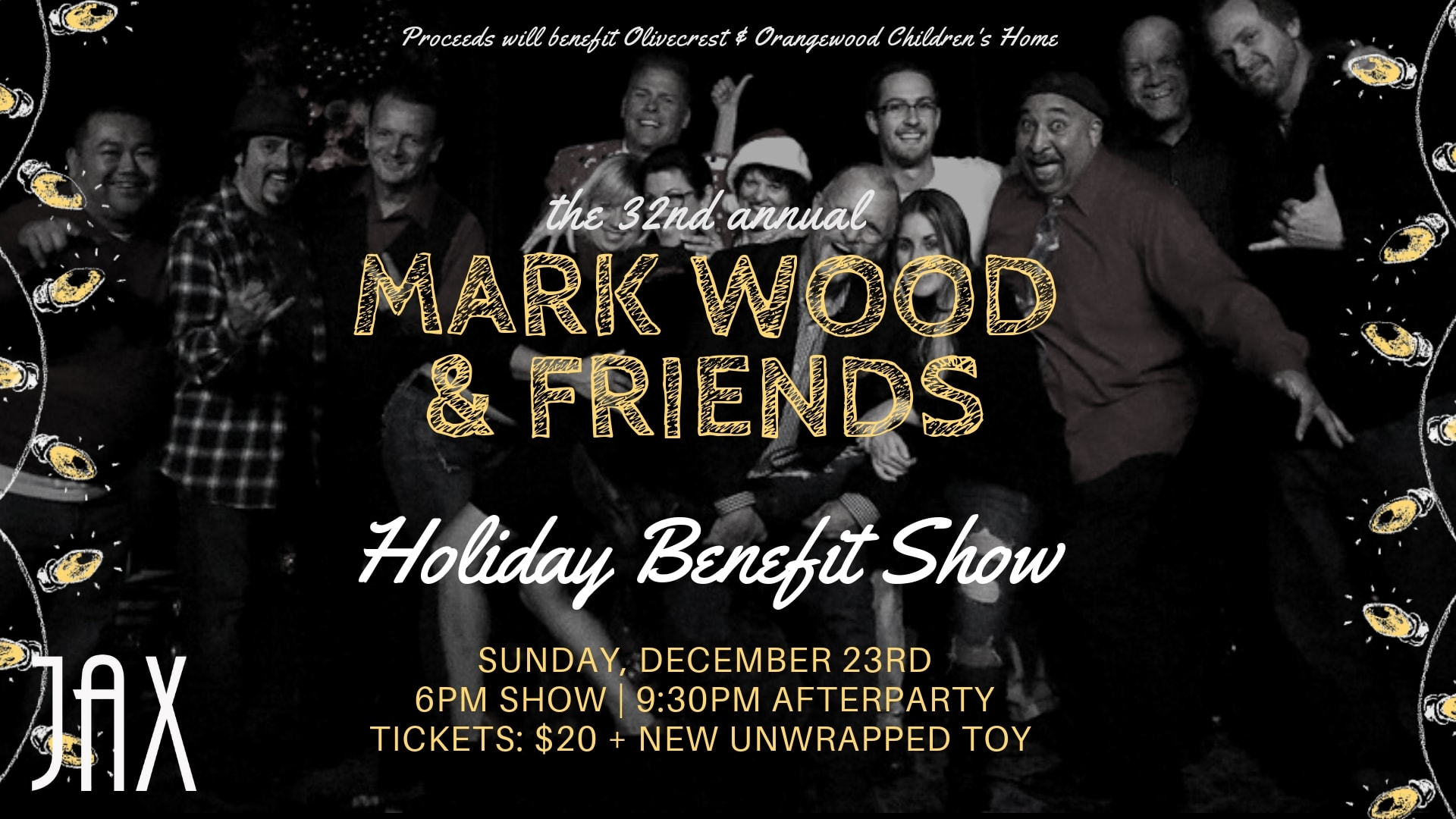 December 23 | MARK WOOD & FRIENDS HOLIDAY SHOW