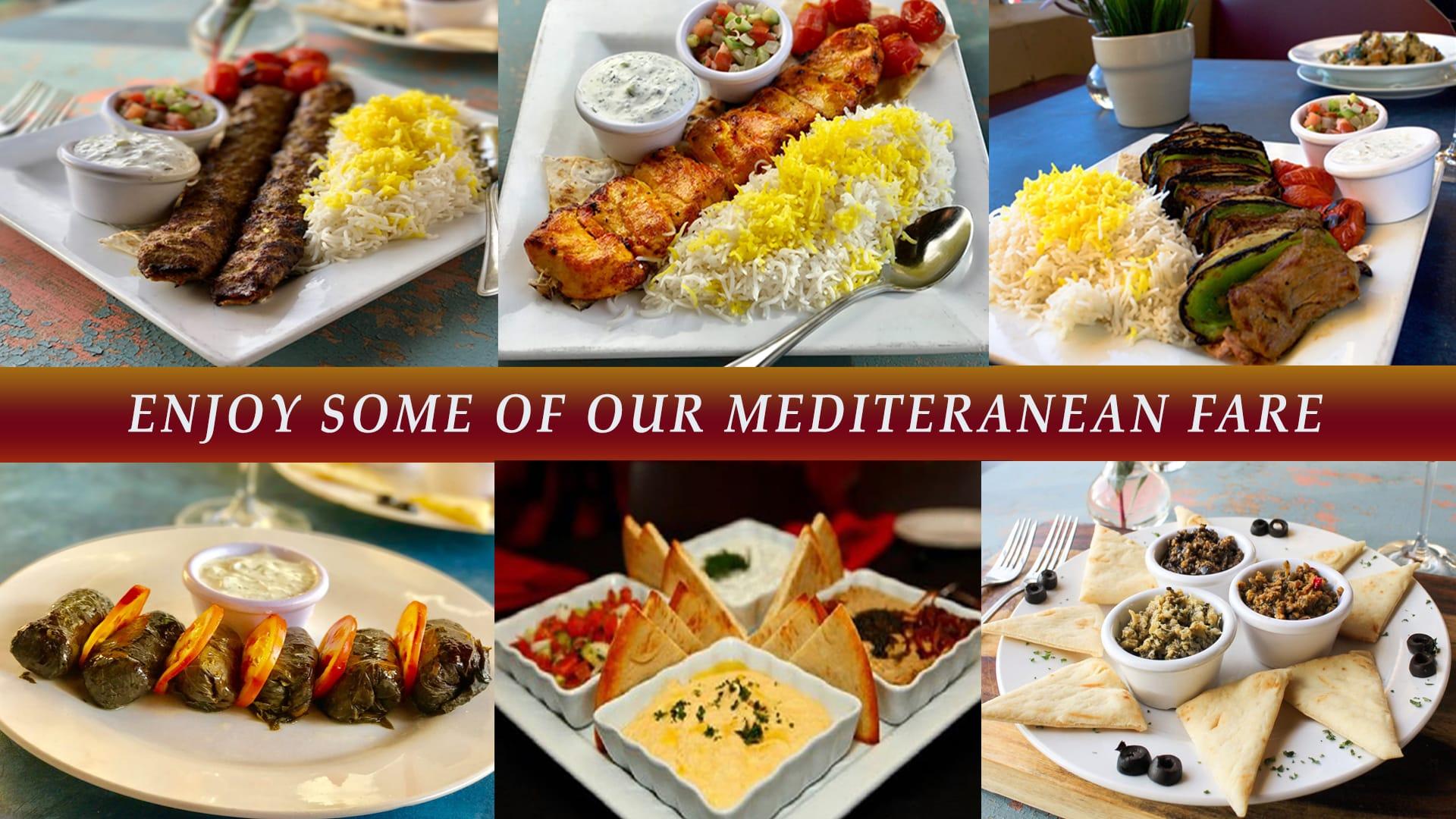 enjoy some mediterranean fare