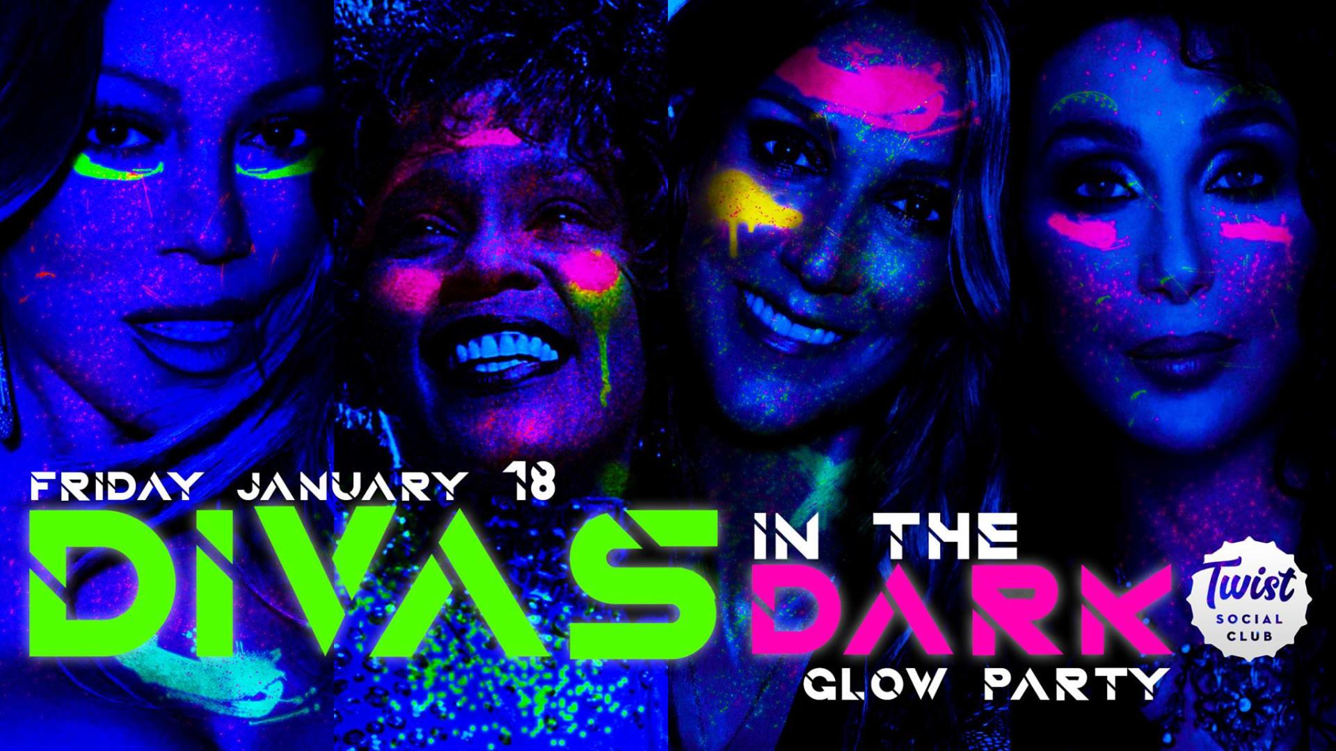 DIVAS in the DARK Glow Party
