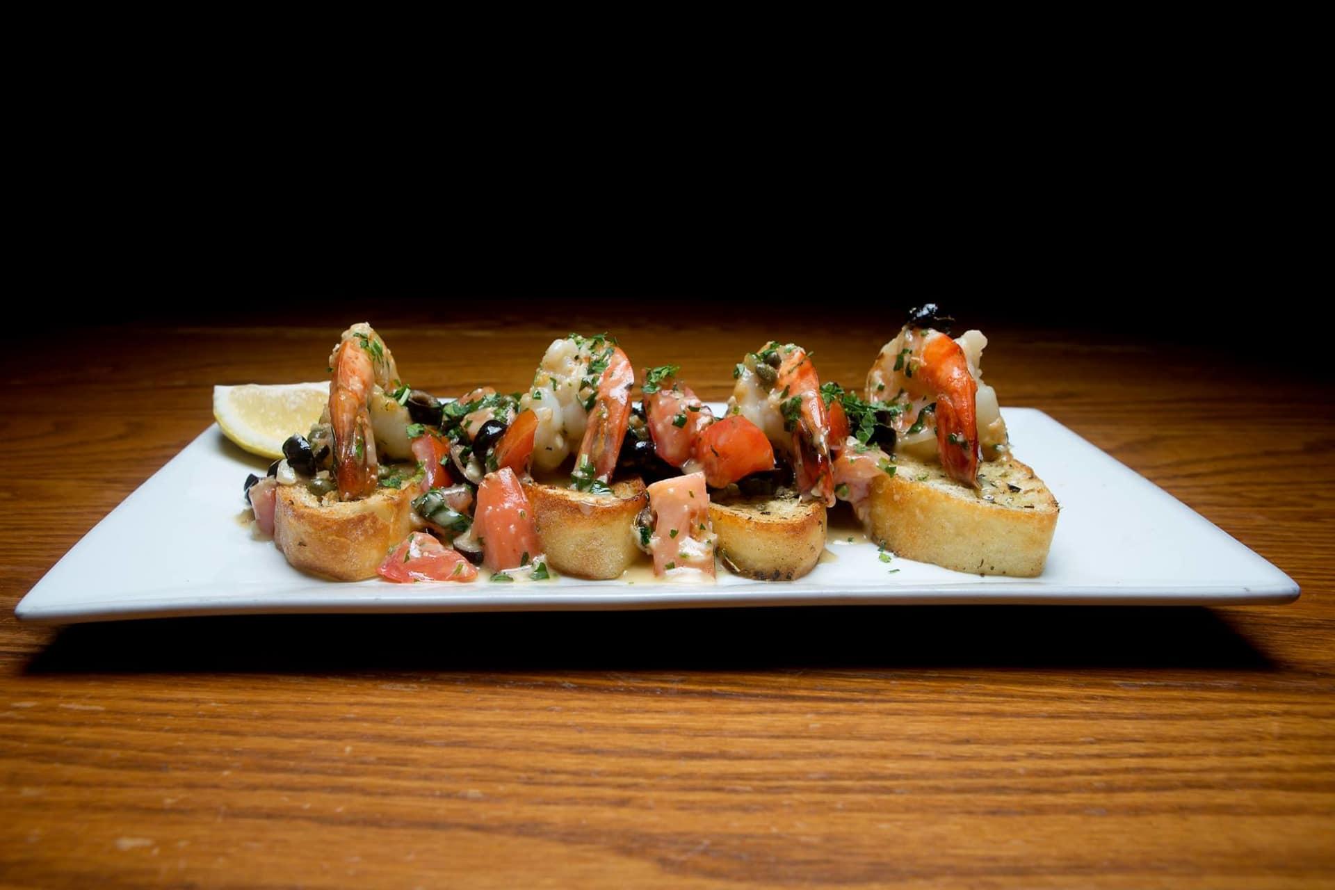 Mediterranean Shrimp Scampi Toasts