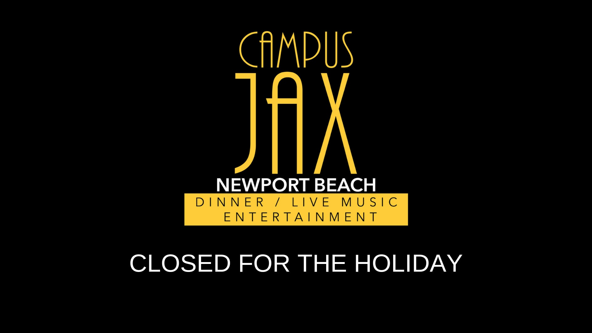 January 2 | CLOSED FOR HOLIDAY RECOVERY