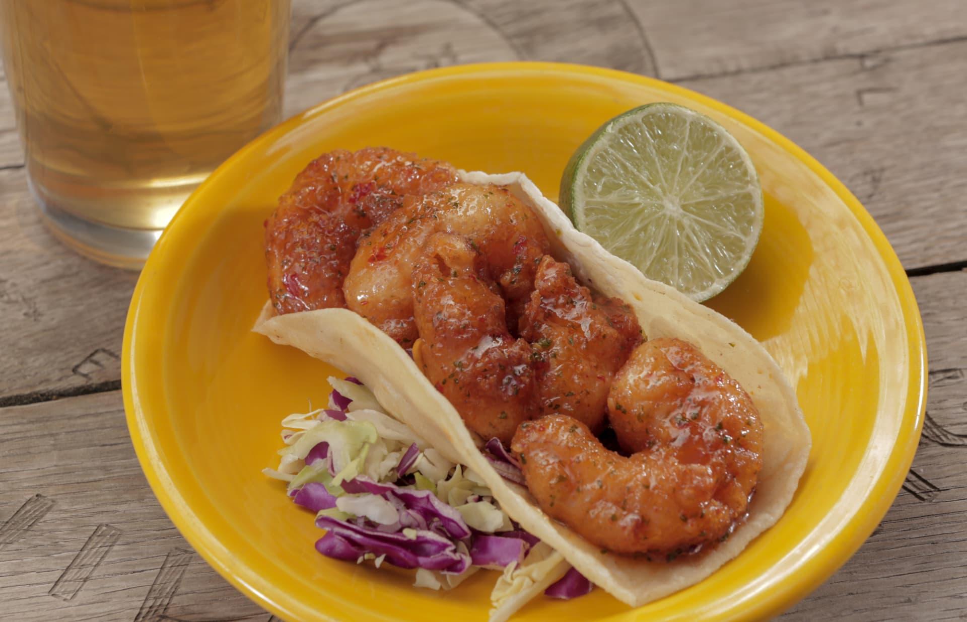 Island Shrimp Taco