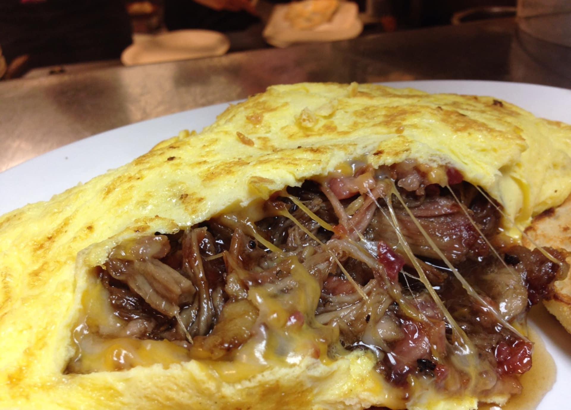 Jack Daniel's Pulled Pork Omelet