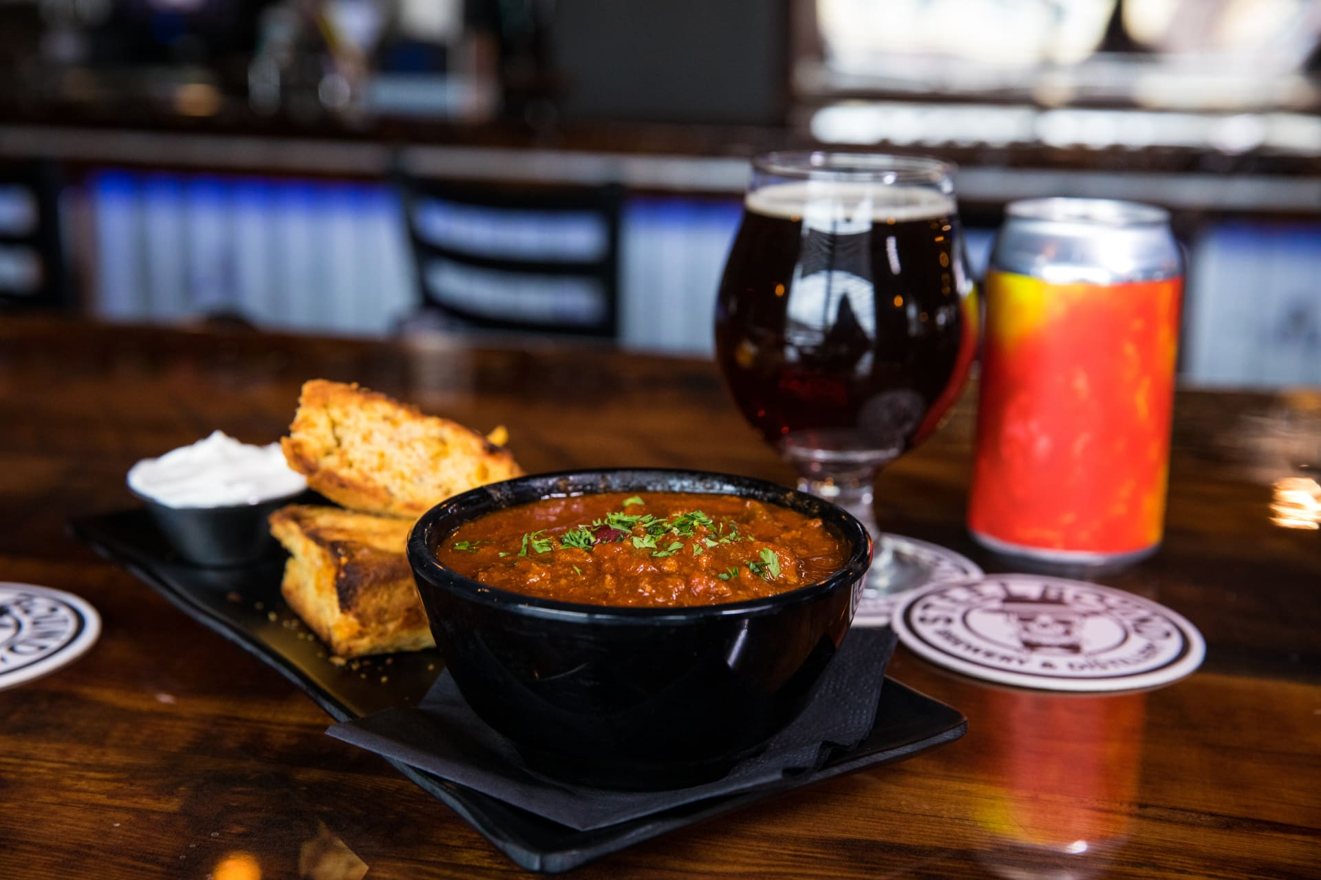 Steelbound Chili and Whiskey Cornbread