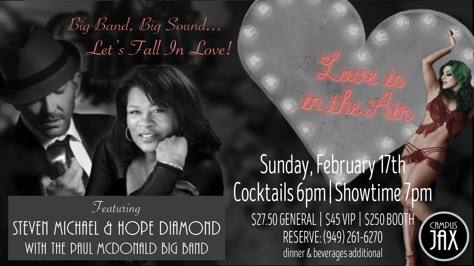 "February 17 | ""LOVE IS IN THE AIR"" BIG BAND SHOW"
