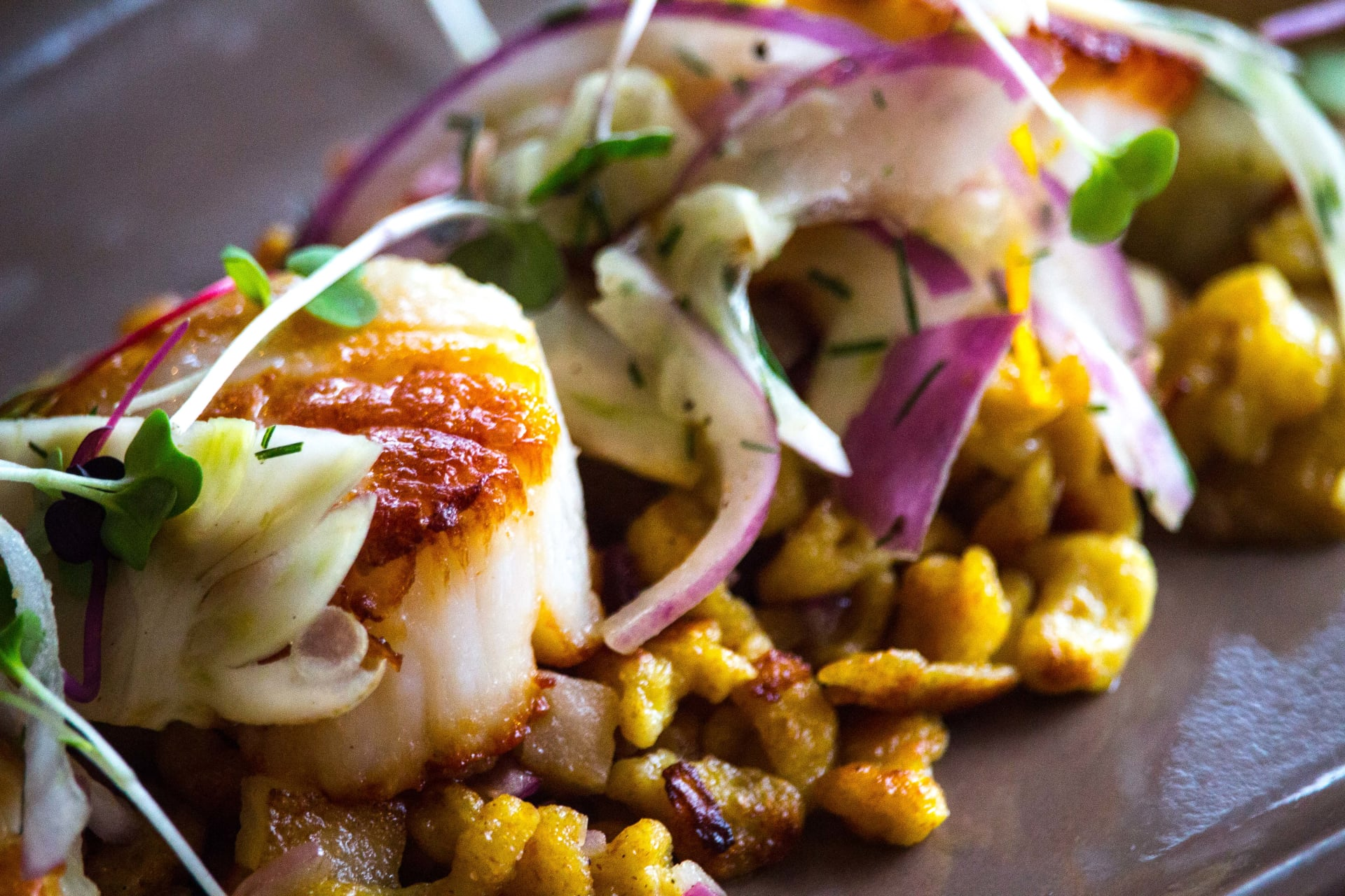 Seared Scallops & Spaetzel