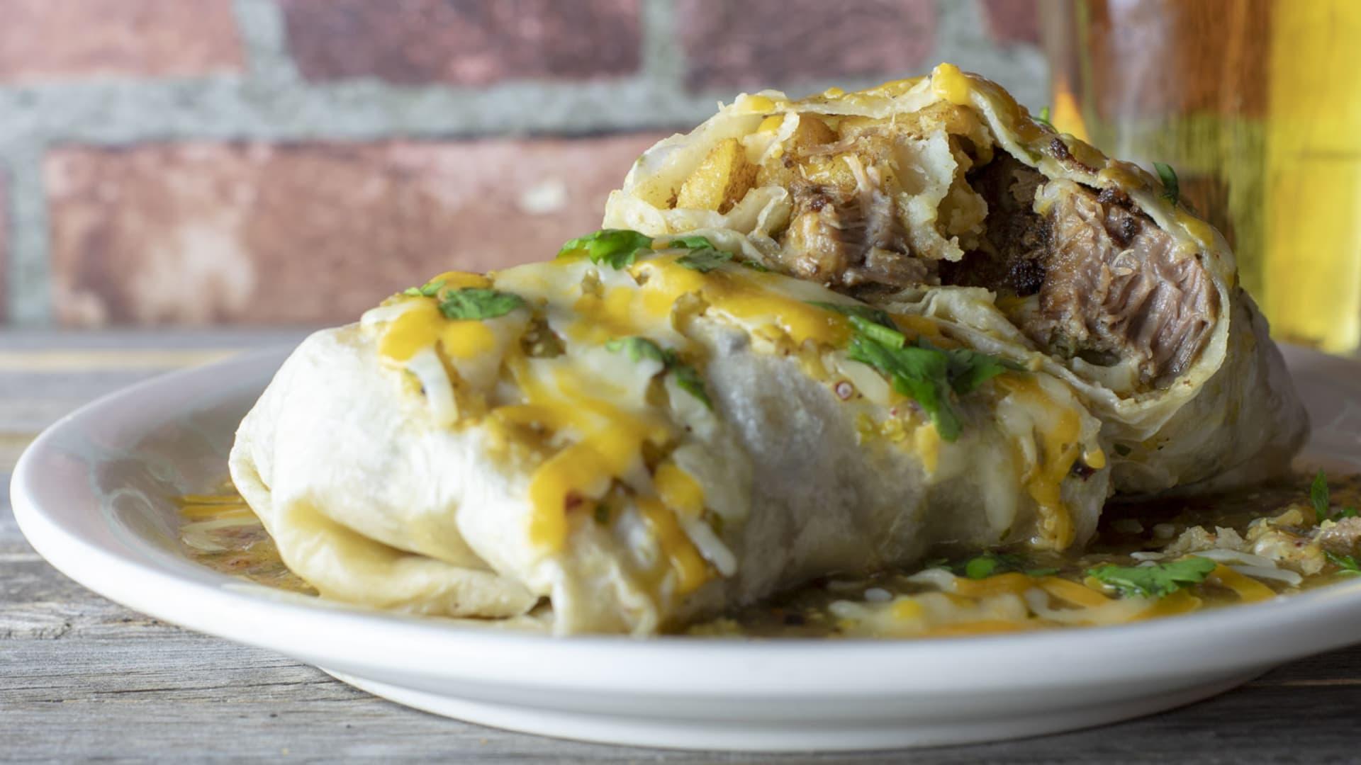 Sunday Monster Pork Wet Burrito