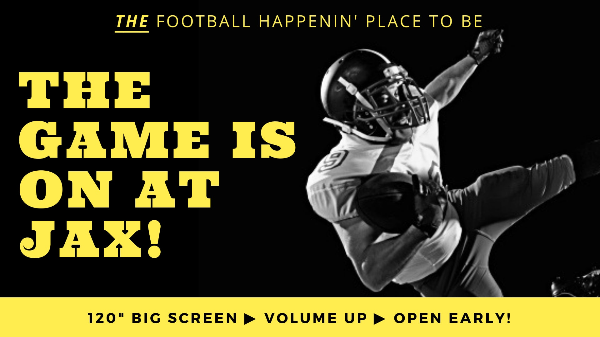 January 20 | BIG SCREEN NFL PLAYOFFS