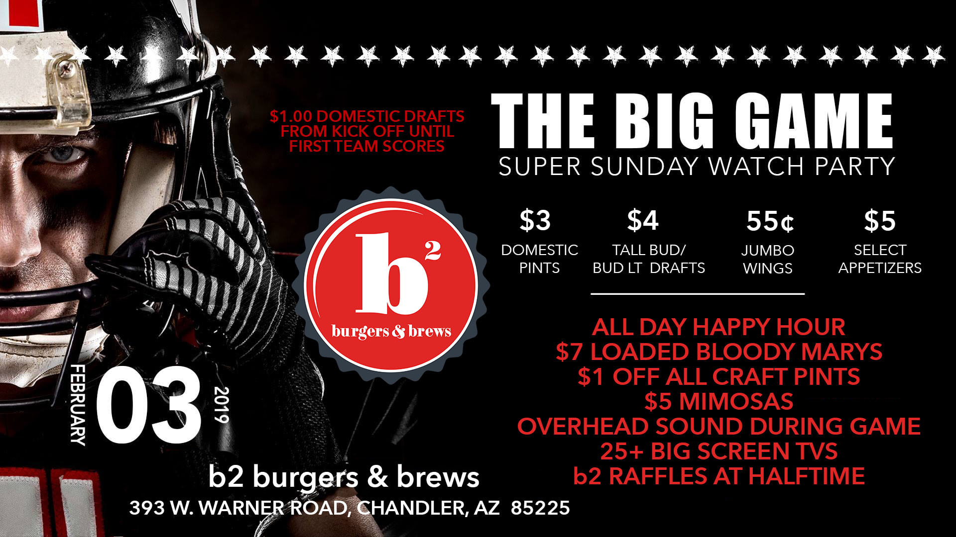 B2's Big Game Super Sunday Watch Party