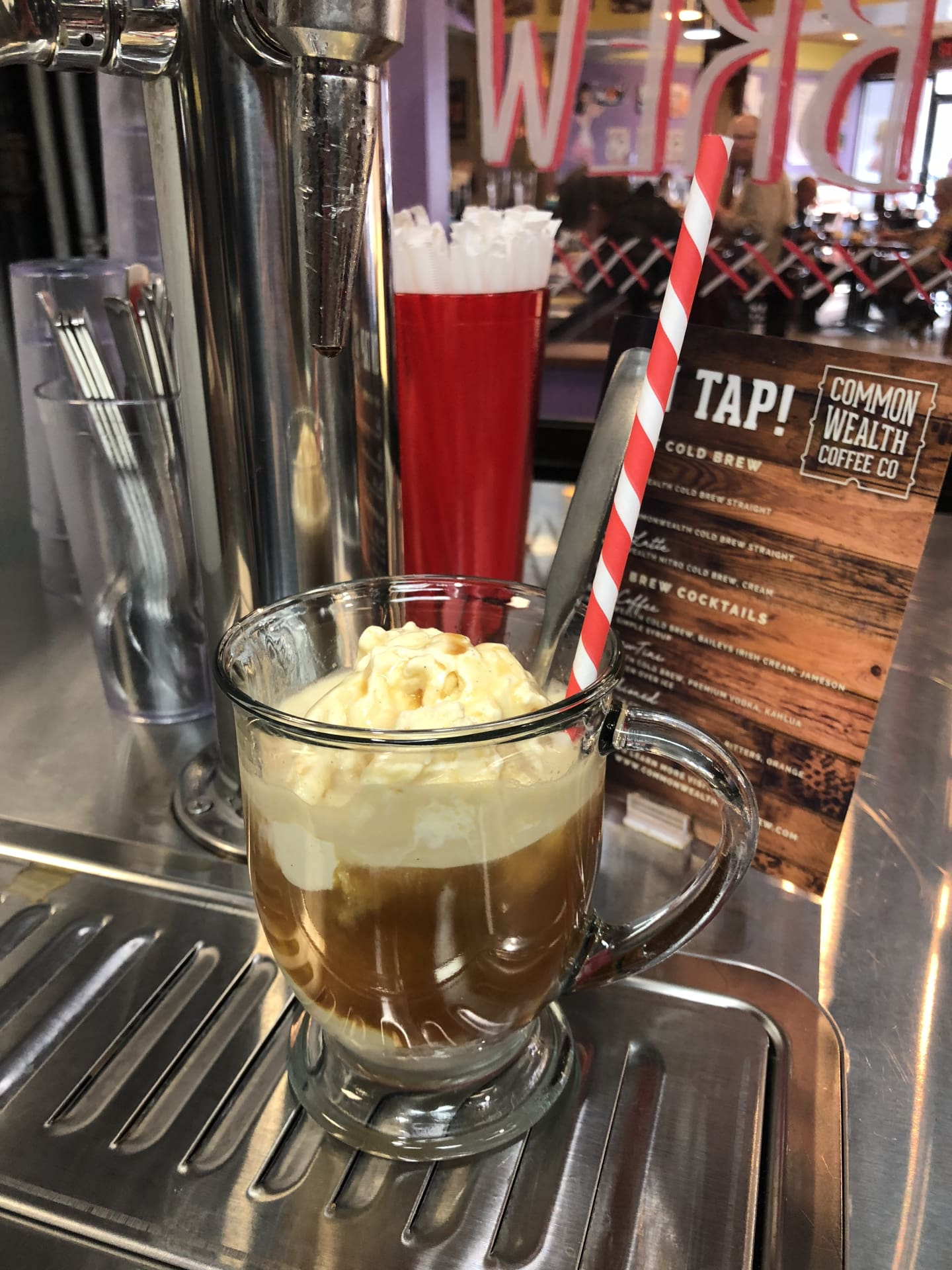 Nitro Iced Coffee Ice Cream Float