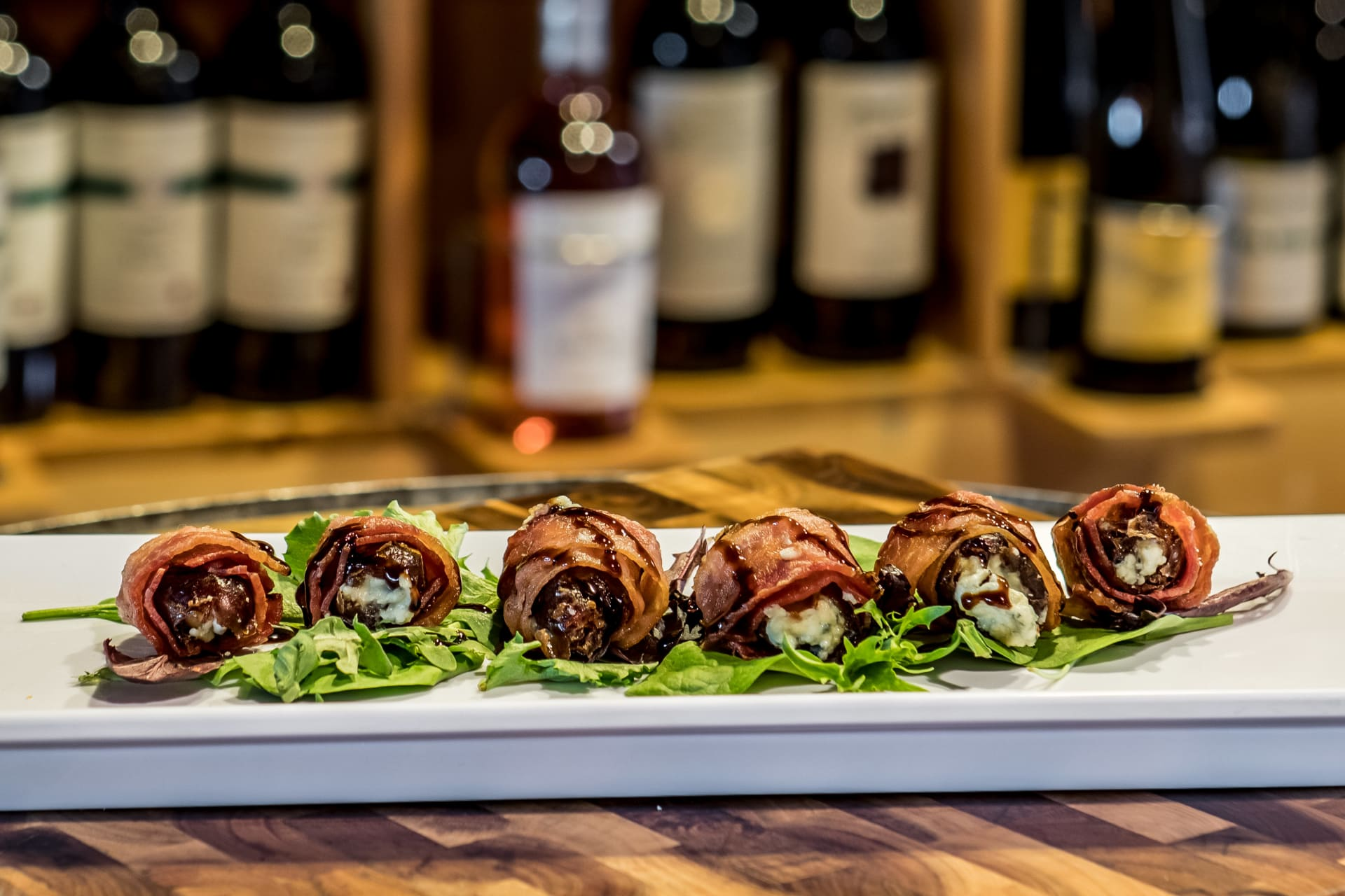 BLUE CHEESE STUFFED BACON WRAPPED DATES