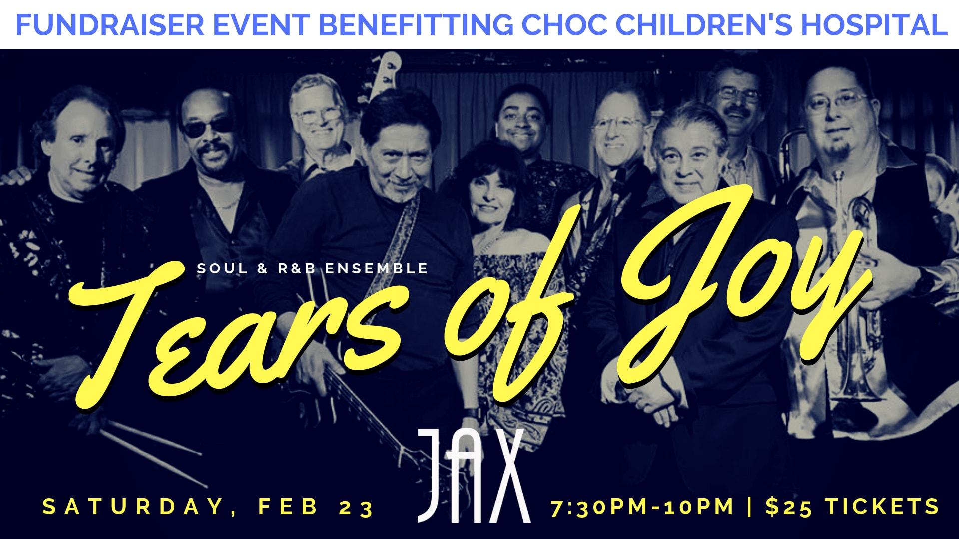 February 23 | TEARS OF JOY CHOC BENEFIT