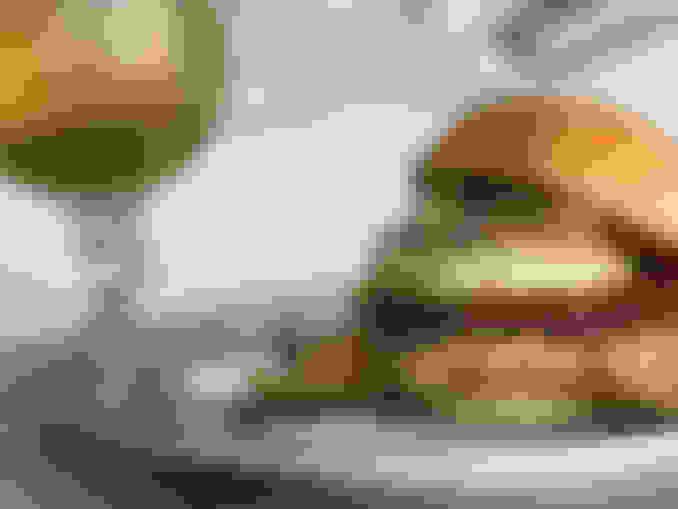 Award winning burger al pastor