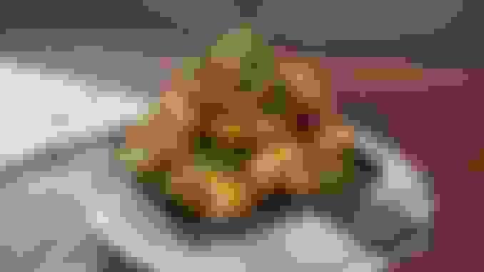 Crispy Brussels Sprouts & Kurobuta Pork Belly