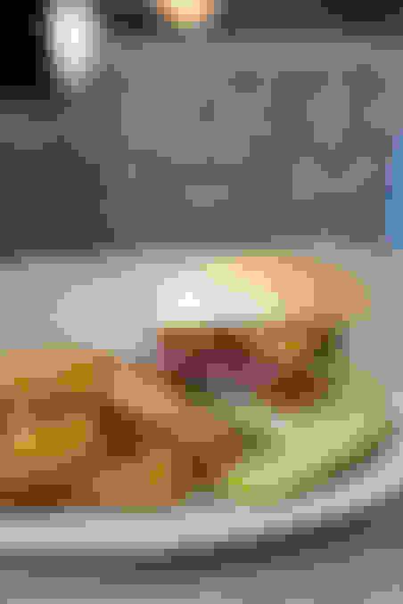 Three-Cheese Bacon Burger