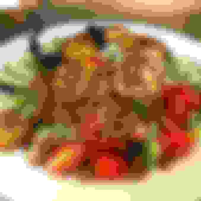 Pan Blackened Scallop Salad
