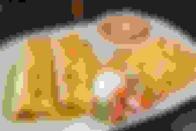 Enchiladas de Camarones Ranchero