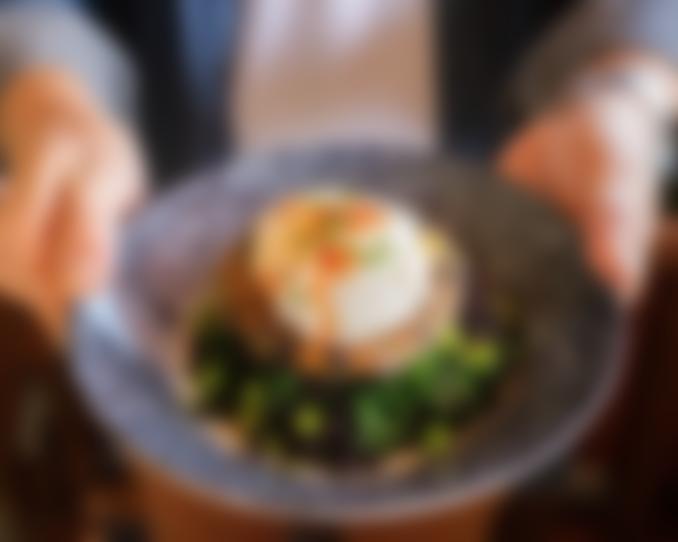 Poached Egg & Crispy Black Rice
