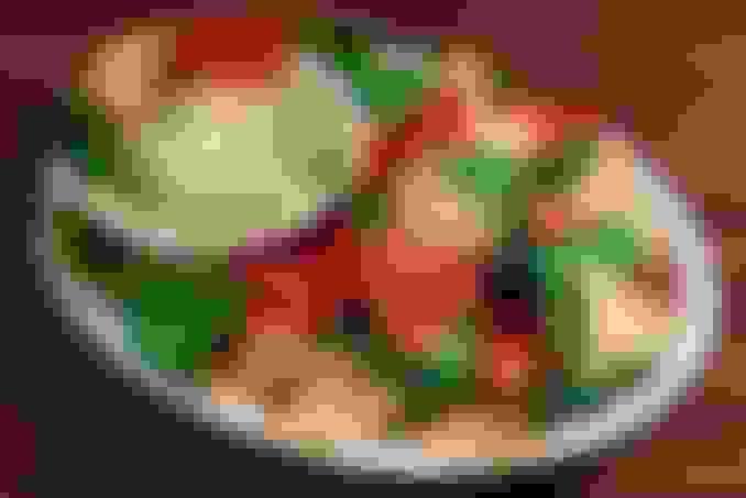 Spinach Artichoke Dip served with Tri-Colored Tortilla Strips