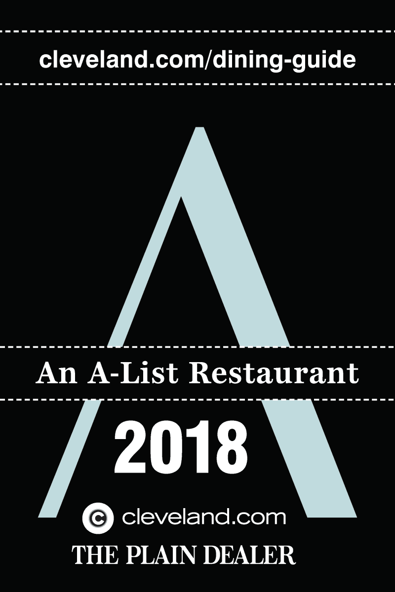 A List Restaurant award