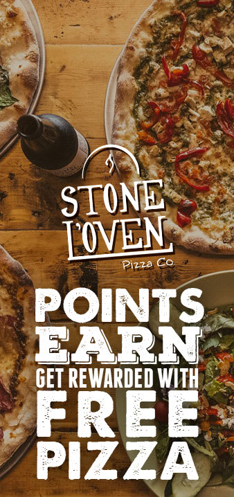 Earn points, get rewarded with free pizza!