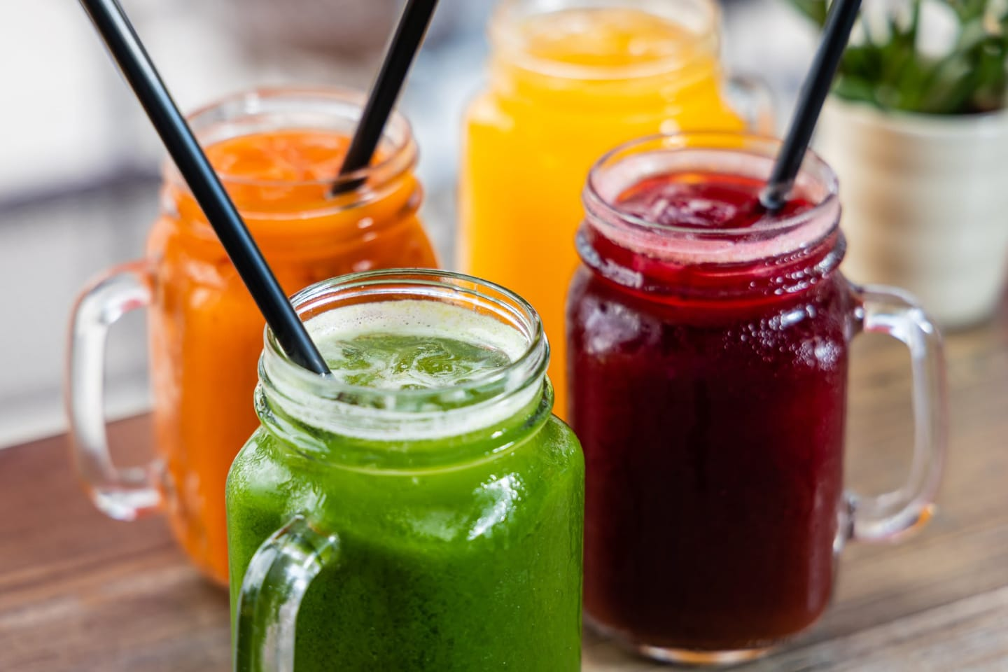 juices in jars