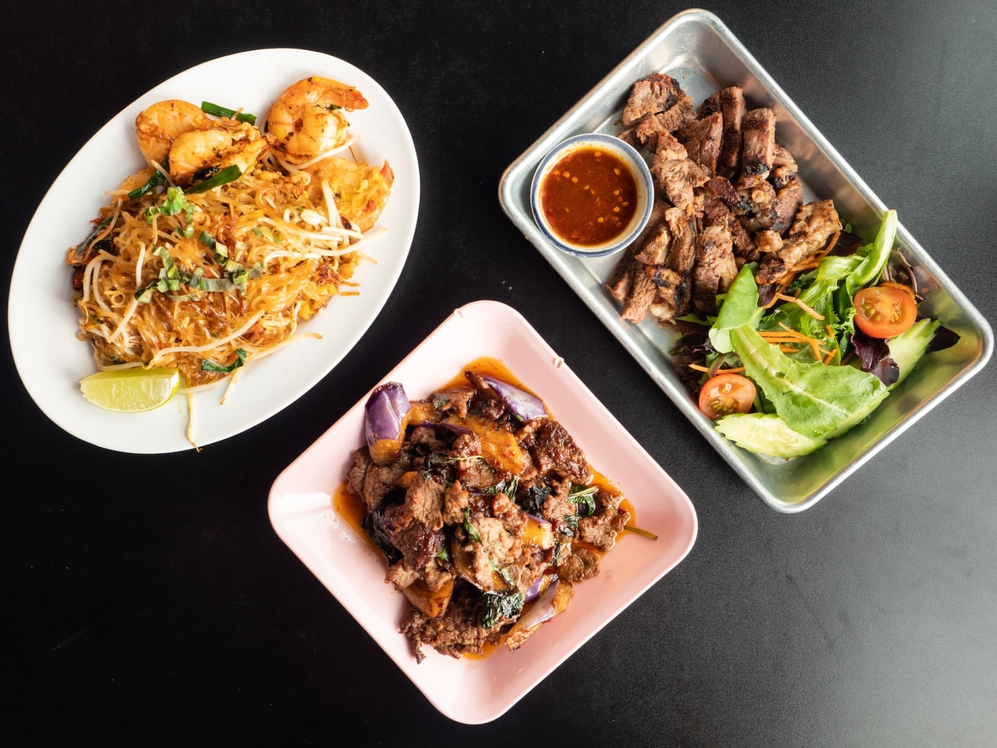 group of dishes