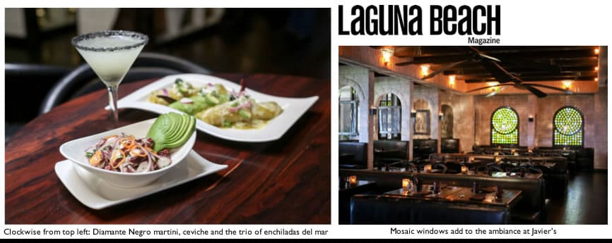 Laguna Beach Magazine features Javier's
